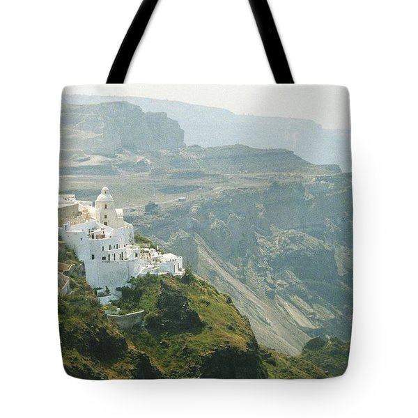 Tote Bag featuring the photograph Santorini by Susie Rieple
