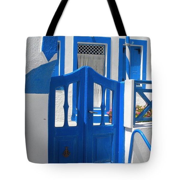 Tote Bag featuring the photograph Santorini Thirasia Island  by Colette V Hera  Guggenheim