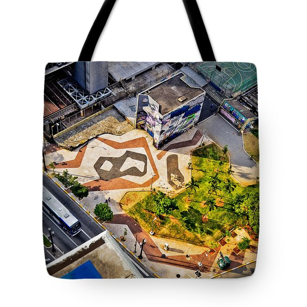 Sao Paulo Downtown - Geometry Of Public Spaces Tote Bag