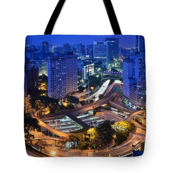 Sao Paulo Skyline - Downtown Tote Bag