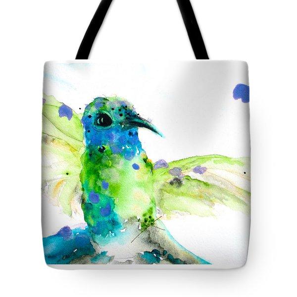 Sapphire Tote Bag by Dawn Derman