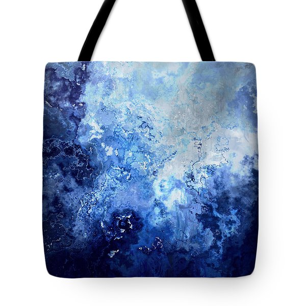 Sapphire Dream - Abstract Art Tote Bag by Jaison Cianelli