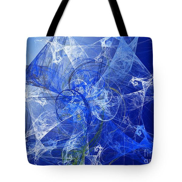 Sapphire In Blue Lace Tote Bag by Andee Design