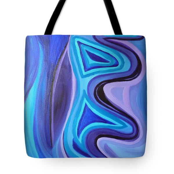 Sapphire Passion - Luminescent Light Tote Bag by Daina White