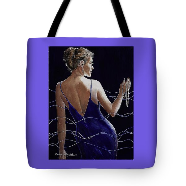 Sapphire Pearls And A Smile Tote Bag
