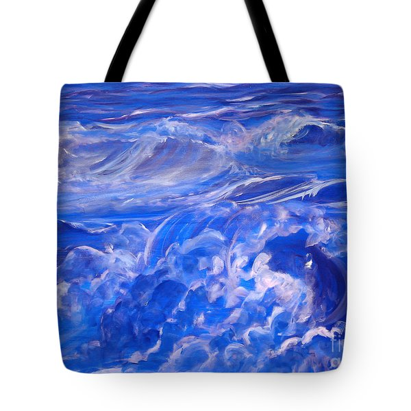 Sapphire Sea Tote Bag by Heather  Hiland