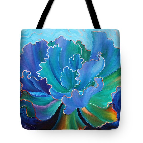 Tote Bag featuring the painting Sapphire Solitaire by Sandi Whetzel