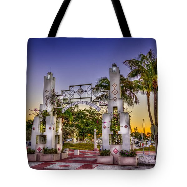 Sarasota Bayfront Tote Bag by Marvin Spates