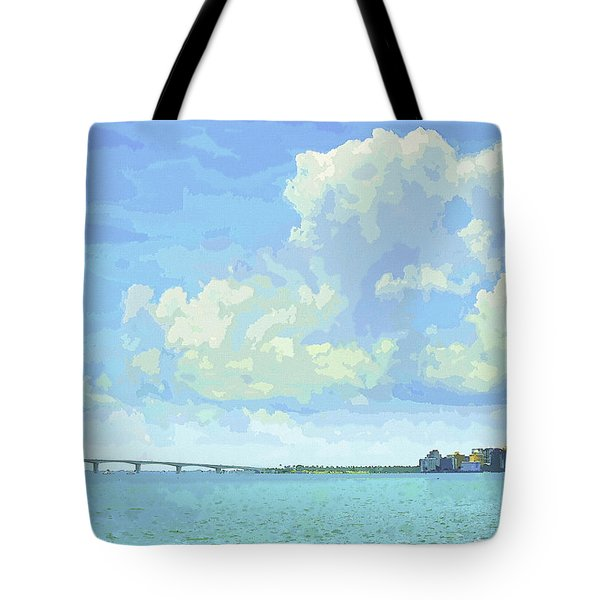 Sarasota Skyline From Sarasota Bay Tote Bag
