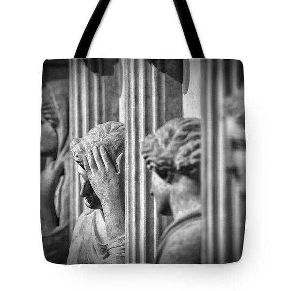 Sarcophagus Of The Crying Women II Tote Bag by Taylan Apukovska