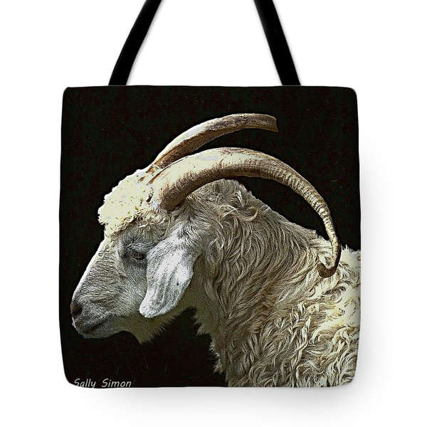 Tote Bag featuring the photograph Sarge The Goat by Sally Simon