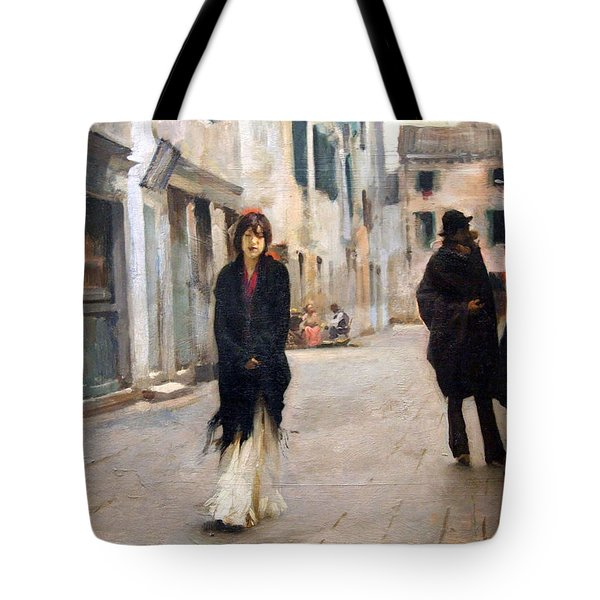 Sargent's Street In Venice Tote Bag