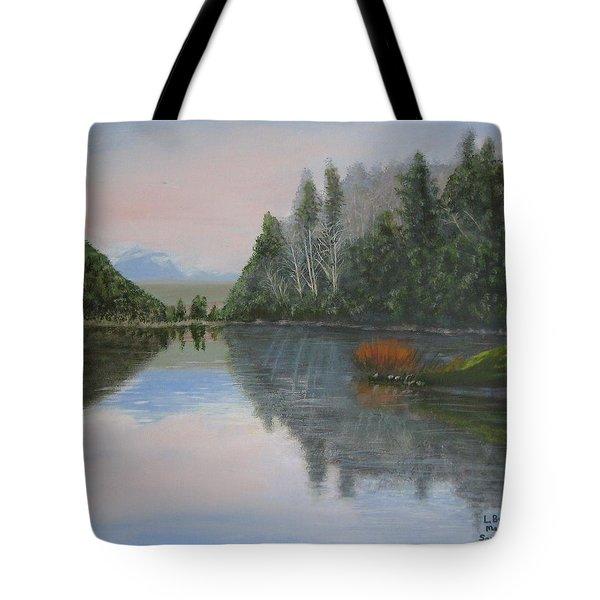 Sarita Lake On Vancouver Island Tote Bag
