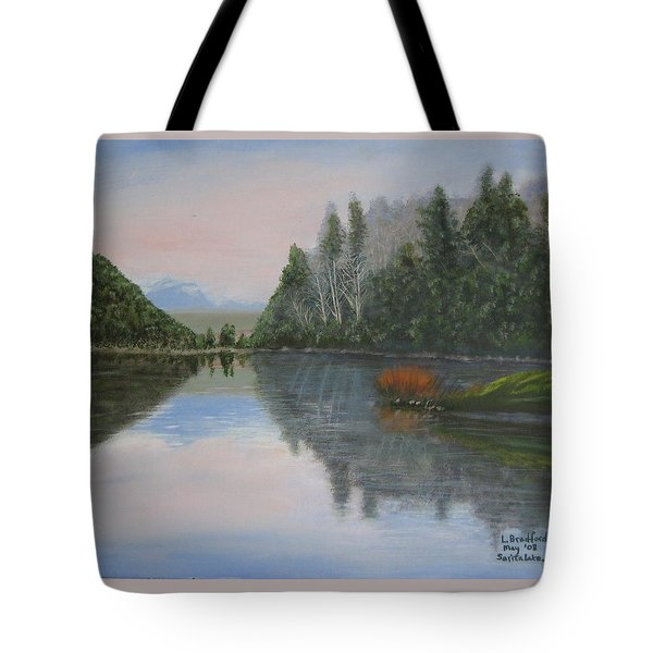 Sarita Lake On Vancouver Island Tote Bag