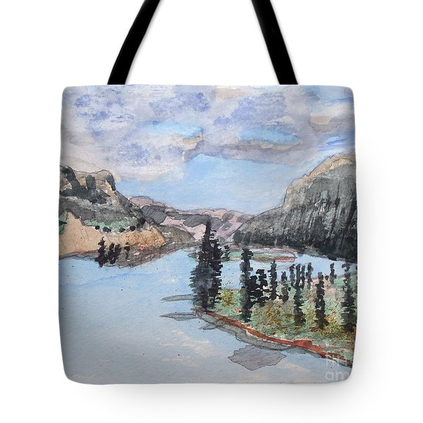 Saskatchewan River Crossing - Icefields Parkway Tote Bag