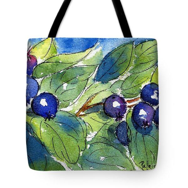 Saskatoon Berries Tote Bag by Pat Katz