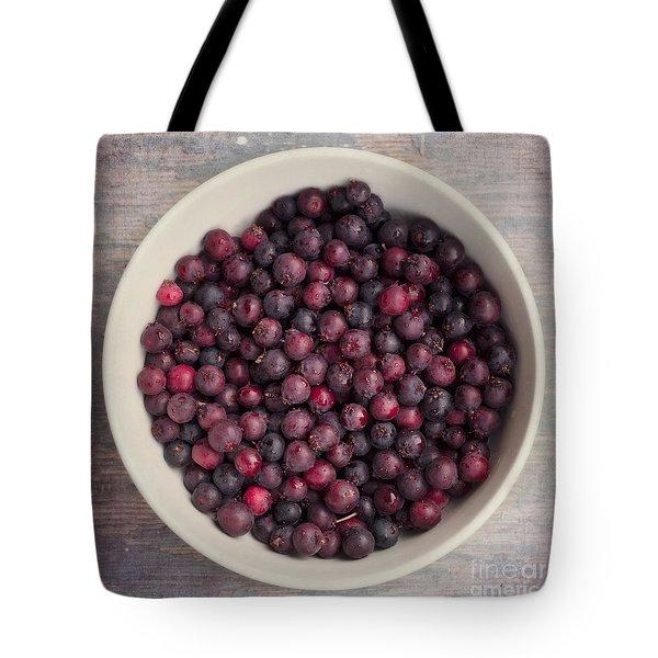 Saskatoon Berries Tote Bag by Priska Wettstein