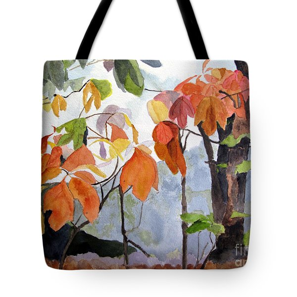 Sassafras Trees On The Ridge Tote Bag by Sandy McIntire