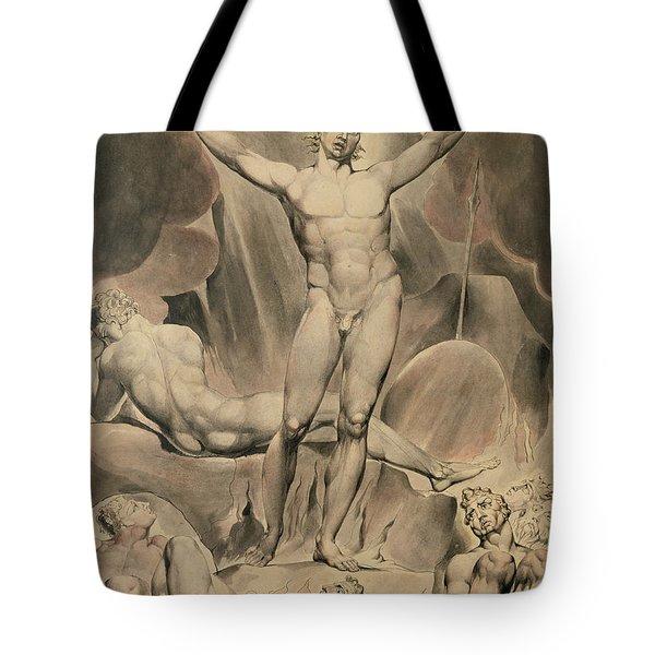 Satan Arousing The Rebel Angels, 1808 Tote Bag