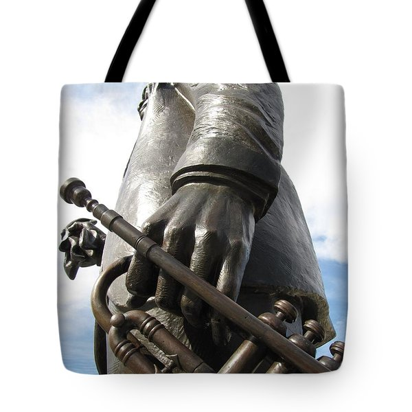 Tote Bag featuring the photograph Satchmo by Beth Vincent