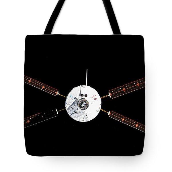 Satellite In Space Tote Bag