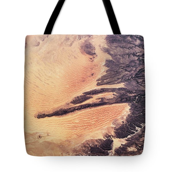Satellite View Of Arid Landscape Tote Bag