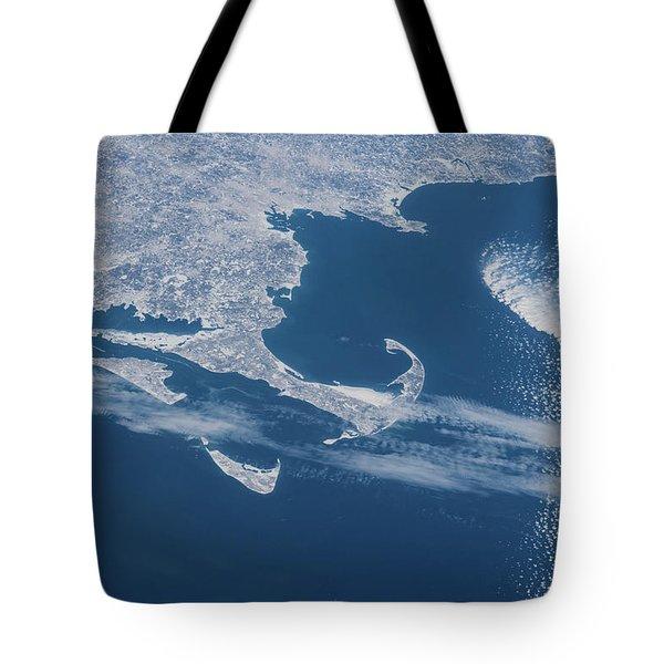 Satellite View Of Cape Cod Area Tote Bag