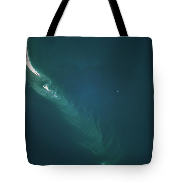Satellite View Of Cape Lookout Area Tote Bag