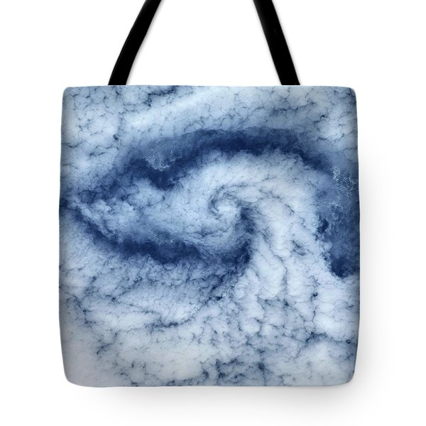 Satellite View Of Cloud Spiral Tote Bag