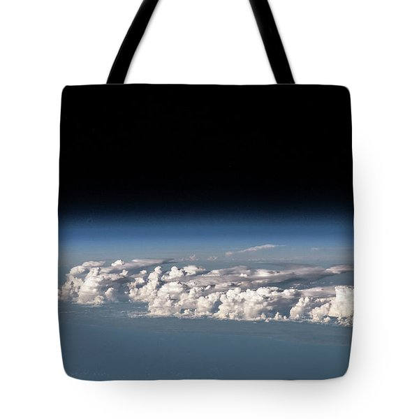 Satellite View Of Clouds Tote Bag