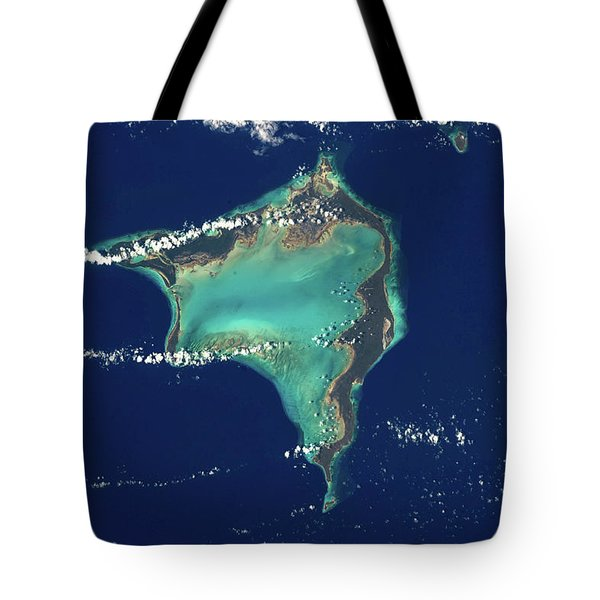 Satellite View Of Crooked Island Tote Bag