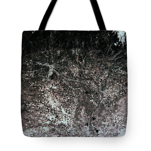 Satellite View Of Denver, Colorado, Usa Tote Bag