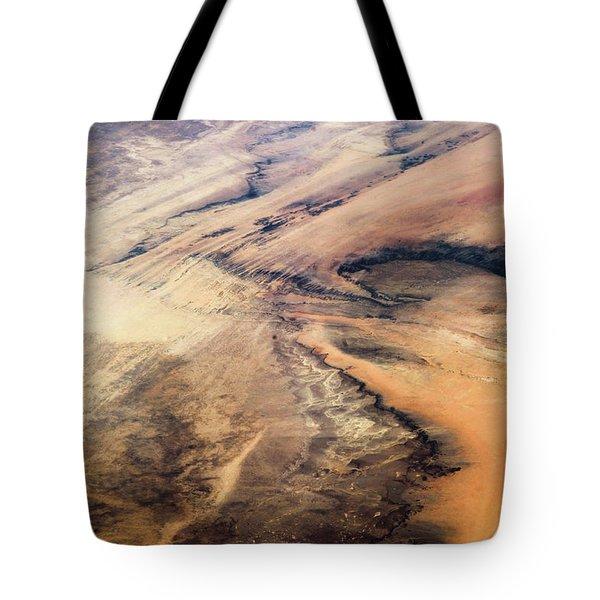 Satellite View Of Desert Area, New Tote Bag