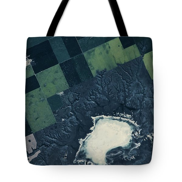 Satellite View Of Fields Tote Bag