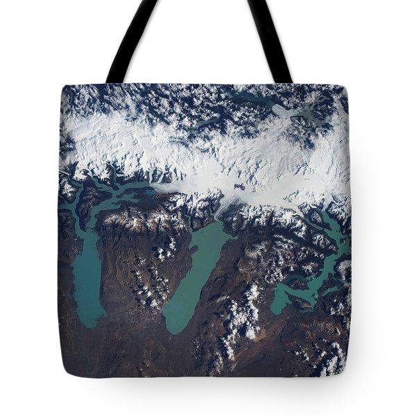 Satellite View Of Glaciers Tote Bag