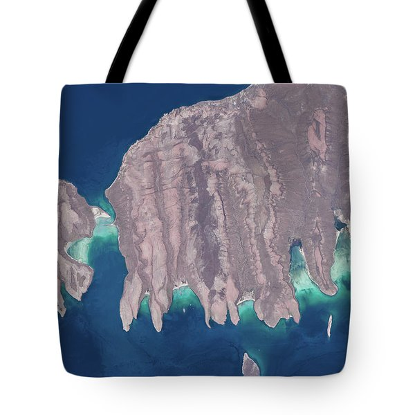 Satellite View Of Isla Del Espiritu Tote Bag