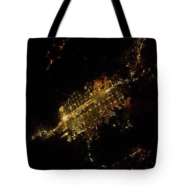 Satellite View Of Las Vegas, Nevada, Usa Tote Bag