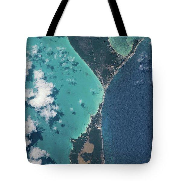 Satellite View Of North Eleuthera Tote Bag
