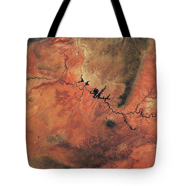 Satellite View Of Novajo Nation Tote Bag
