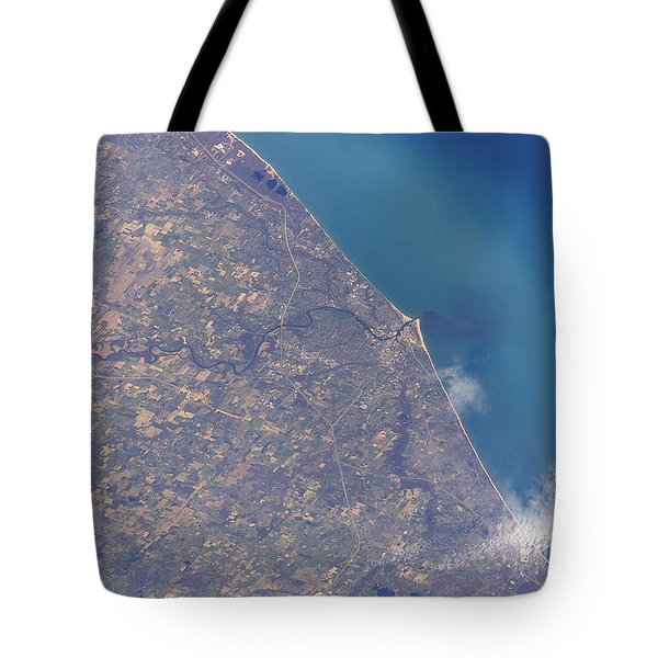 Satellite View Of St. Joseph Area Tote Bag by Stocktrek Images