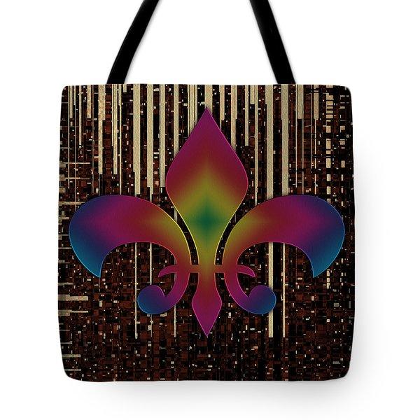 Satin Lily Symbol Digital Painting Tote Bag by Georgeta Blanaru