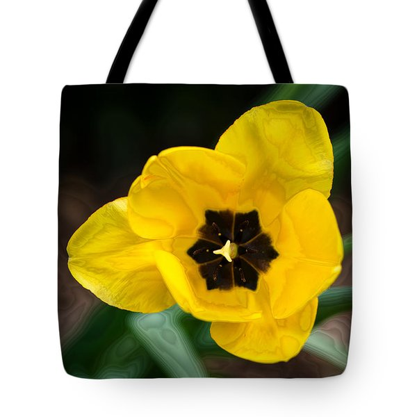 Satin Tulip Tote Bag by Lois Bryan