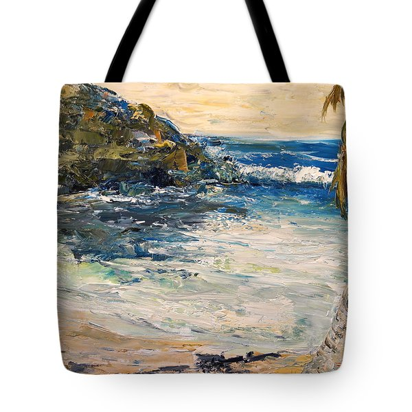Tote Bag featuring the painting Saturday Afternoon  by Alan Lakin