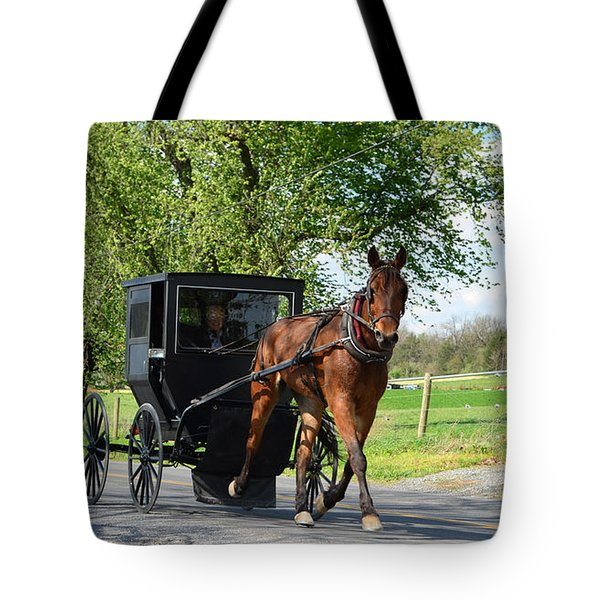 Saturday Buggy Ride Tote Bag by Cathy Shiflett