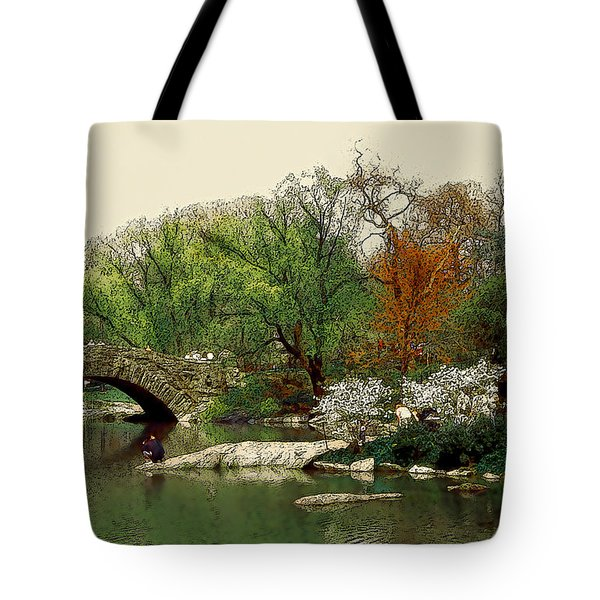 Saturday In Central Park Tote Bag by Linda  Parker