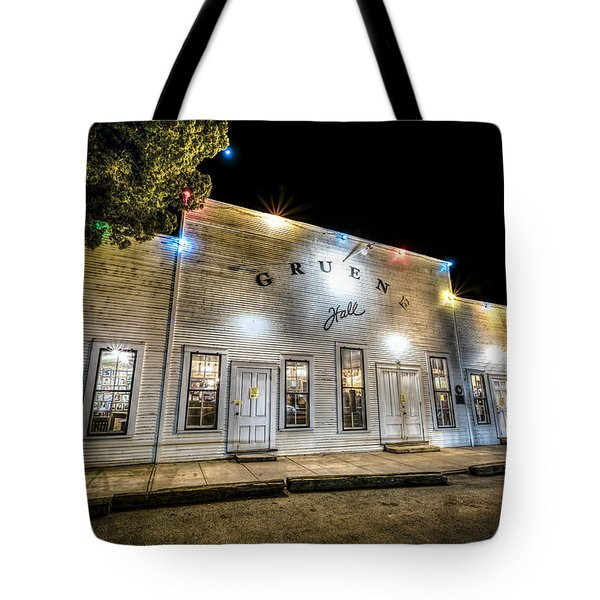 Saturday Night At Gruene Hall Tote Bag
