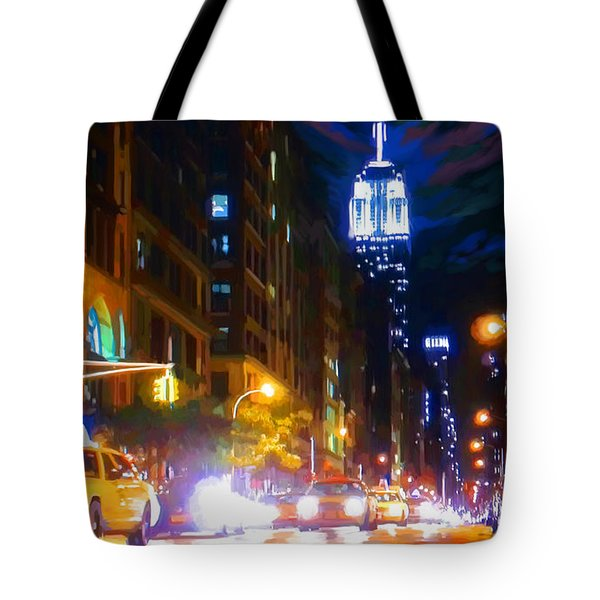 New York Taxi Street City Canvas Wall Art Picture Print Va: Saturday Night New York Live Painting By Tim Gilliland