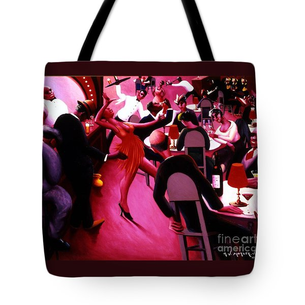 Saturday Night Tote Bag by Pg Reproductions