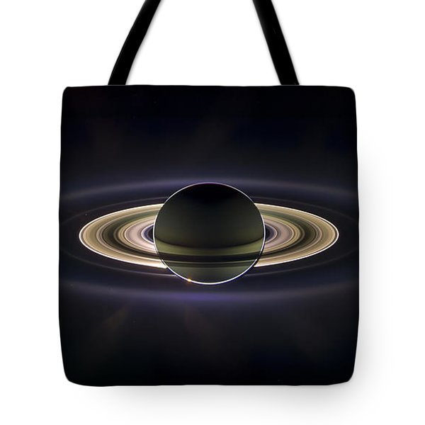 Saturn Tote Bag by Adam Romanowicz