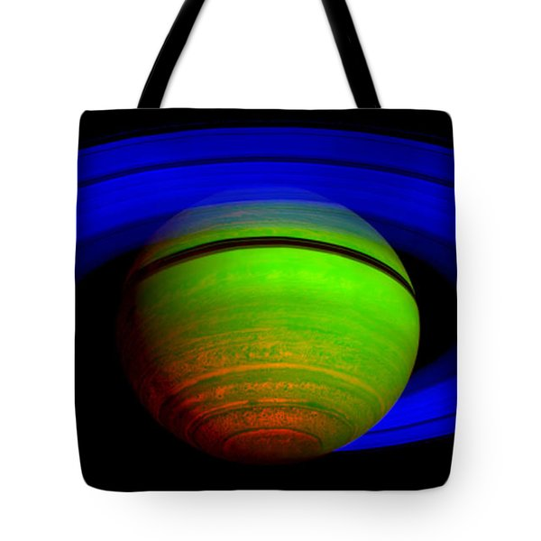 Saturn In Color Tote Bag by Paul Ward